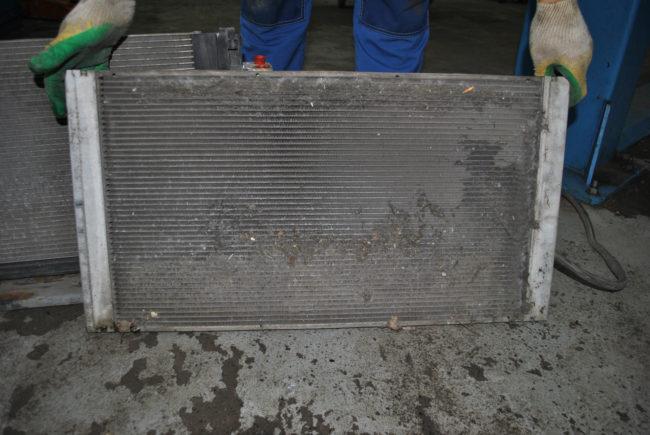 Засоренный радиатор