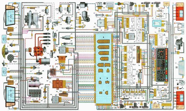printsipialnayaelektrosxemavaz21099 851F7777 - Схема электрики ваз 21099 карбюратор