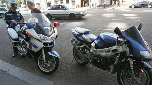 Какой штраф за отсутсвие документов на мотоцикл