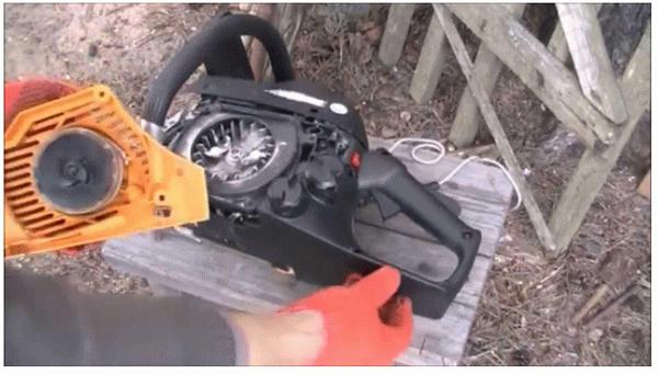 Как намотать пружину на стартер триммера